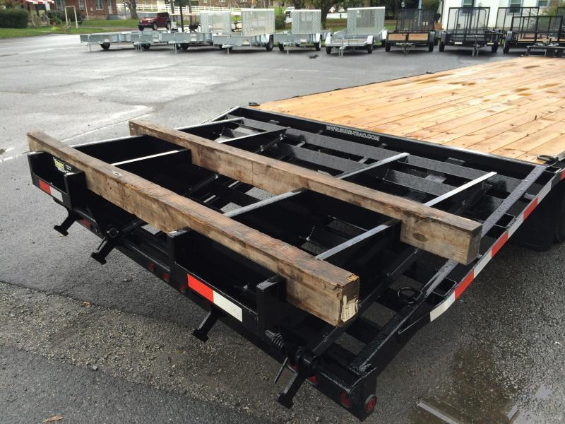 2017 Sure-Trac 102x20+5 15000# Gooseneck Beavertail Deckover Trailer PIERCED FRAME 3 RAMPS