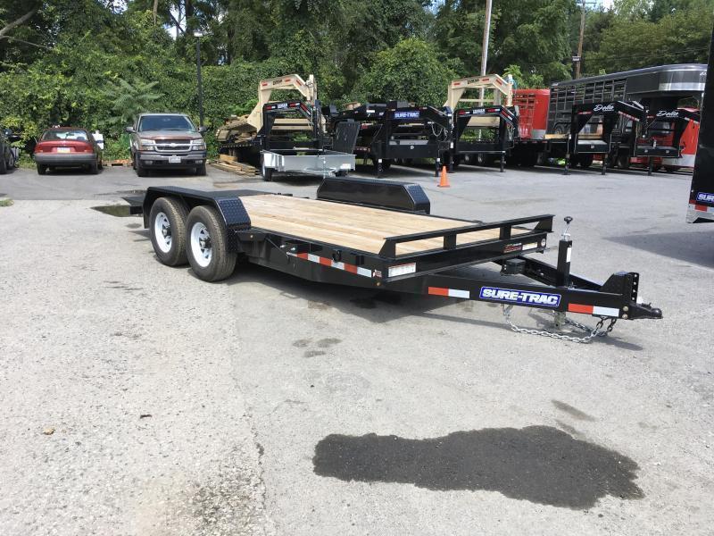 2018 Sure-Trac 7x18 Tilt Bed Equipment Trailer 9900# GVW