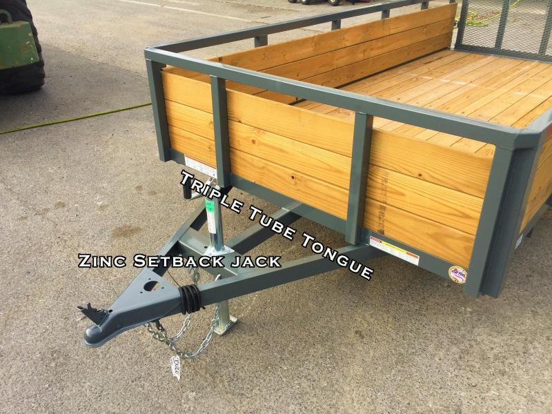 2017 Sure-Trac 5x8 3-Board High Side Tube Top Utility Trailer 2990# GVW