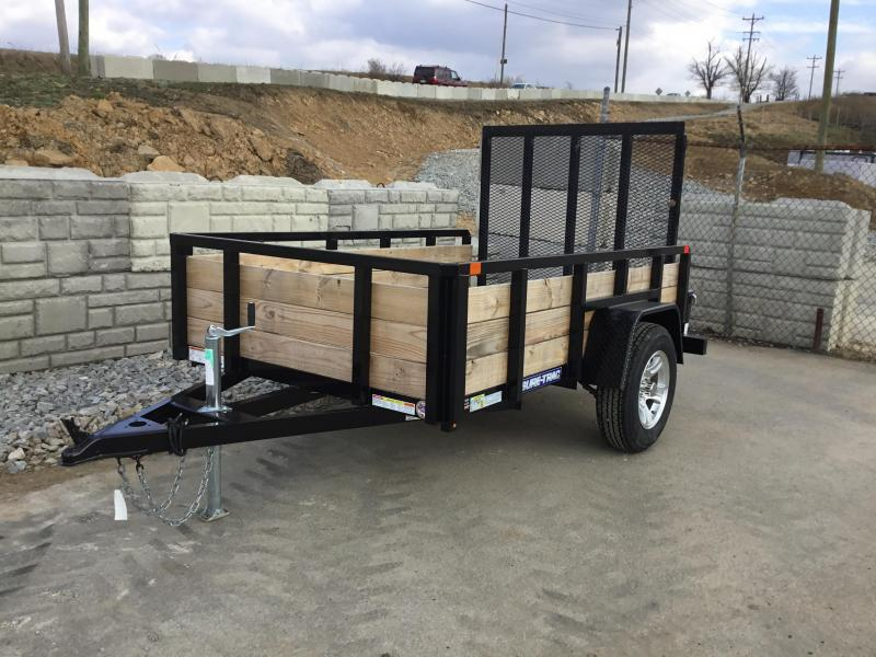 2017 Sure-Trac 5x8 3-Board High Side Tube Top Utility Trailer 2990# GVW - ALUMINUM WHEELS