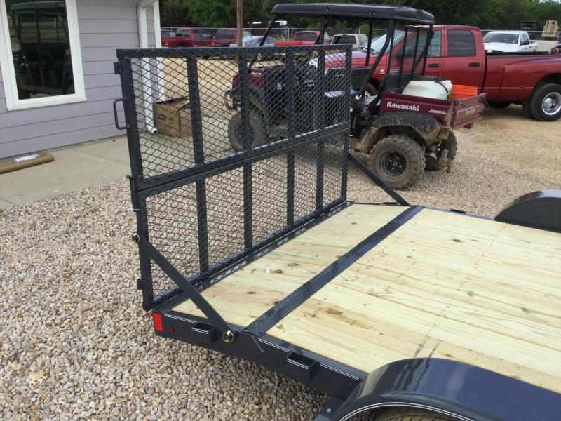 2017 Lamar 7x16 7000# Wood Deck Car Hauler Trailer BI-FOLD GATE