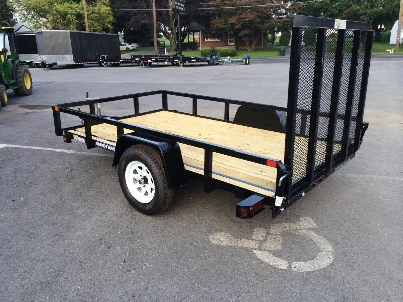 2018 Sure-Trac 6x12' 2990# Tube Top Landscape Utility Trailer