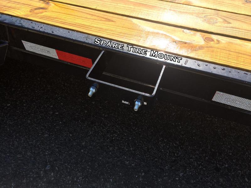 2017 Sure-Trac 7x20' 7000# Manual Tilt Wood Deck Car Hauler