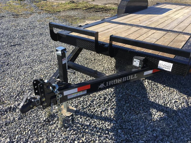 2018 Iron Bull 7x16+4' Tilt Equipment Trailer 9990# GVW - STOP VALVE TORSION AXLES
