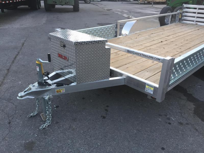 2018 QSA Deluxe 7x16' 7000# GVW DELUXE Aluminum Landscape Utility Trailer SIDE ATV RAMPS