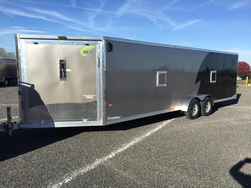 2016 Haul It 7 X 18 Enclosed Snowmobile Trailer Stock Ncj31 All