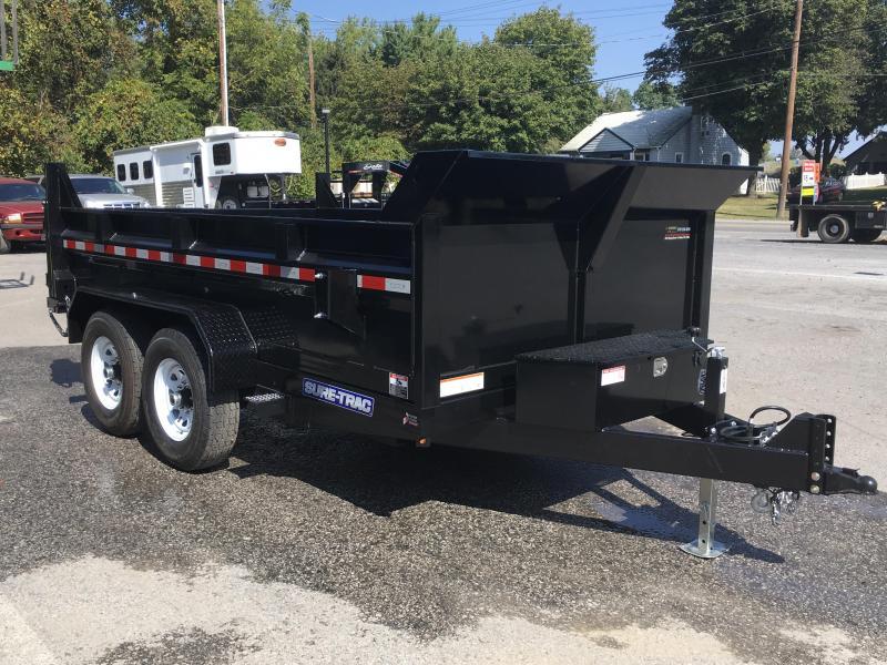 2017 Sure-Trac 7x12' LowPro Hydraulic Dump Trailer DUAL PISTON 12000# - HYDRAULIC JACK
