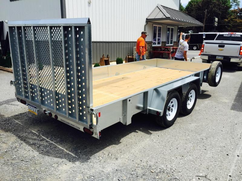 2018 Sure-Trac 7X16' Galvanized High Side Utility Trailer 7000#