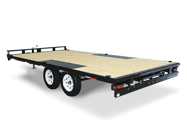 2017 Sure-Trac 102x20' LP Straight Deckover Trailer 9900#  - 8' SLIDE OUT RAMPS