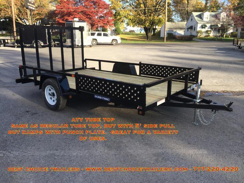 2018 Sure-Trac 7x12' Tube Top ATV Side Ramps Utility Trailer 2990# GVW