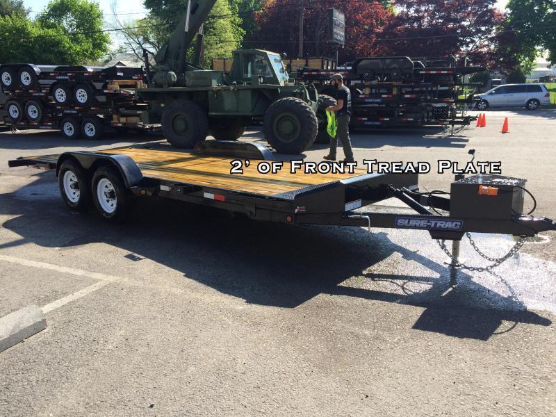 2018 Sure-Trac 7x18' 7000# Manual Tilt Wood Deck Car Hauler