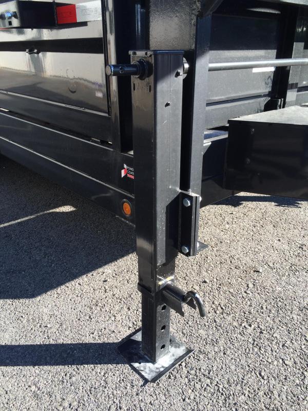 2017 Sure-Trac 7x16' 14000# Low Profile HD GOOSENECK Dump Trailer SCISSOR HD JACK/COUPLER