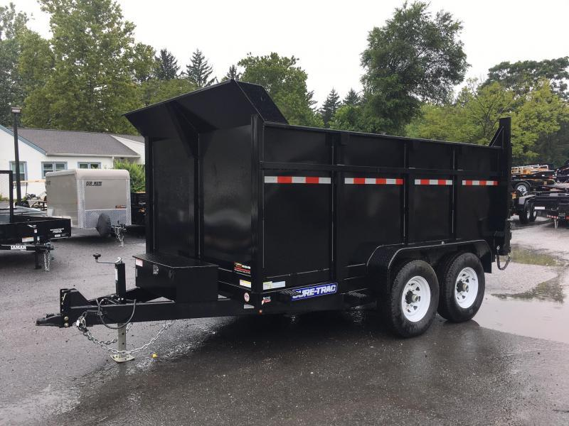 2018 Sure-Trac 7x14' LowPro Dump Trailer 14000# GVW - 4 FOOT SIDES