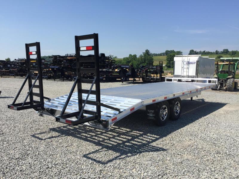 2017 H&H 102x18+4 9990# Aluminum Deckover Equipment Trailer STAND UP RAMPS EXTRUDED ALUMINUM FLOOR TORSION AXLES