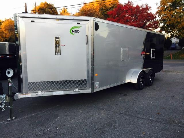 2016 Neo 7x22 NASF Aluminum 3-place Enclosed Snowmobile Trailer
