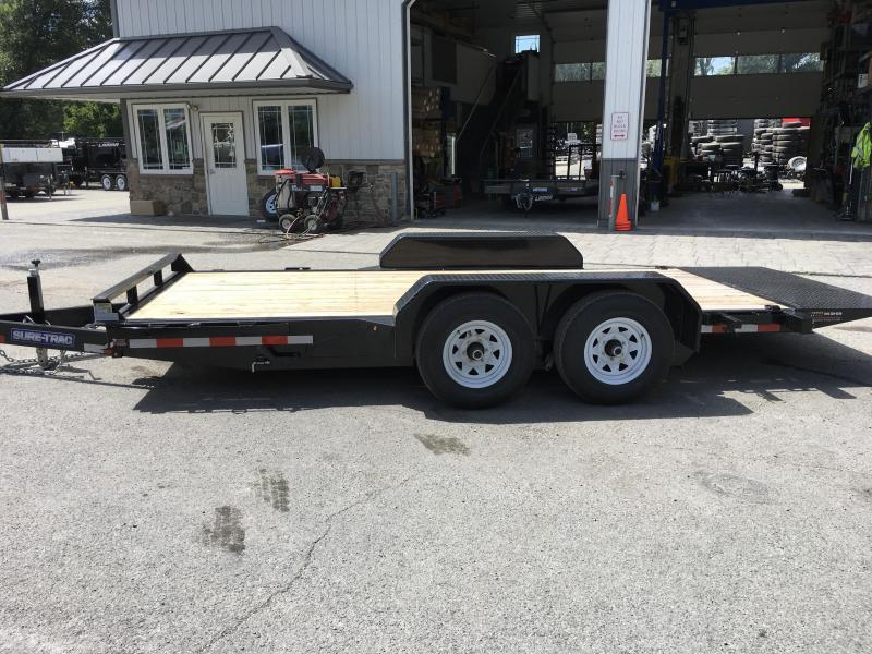 2017 Sure-Trac 7x18 Tilt Bed Equipment Trailer 9900# GVW