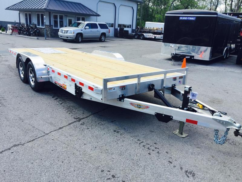 2017 H&H 7x20' 7000# Aluminum Power Tilt Car Hauler