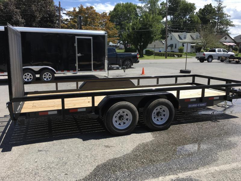 2017 Sure-Trac 7x18 Tube Top Utility Trailer 9900# GVW
