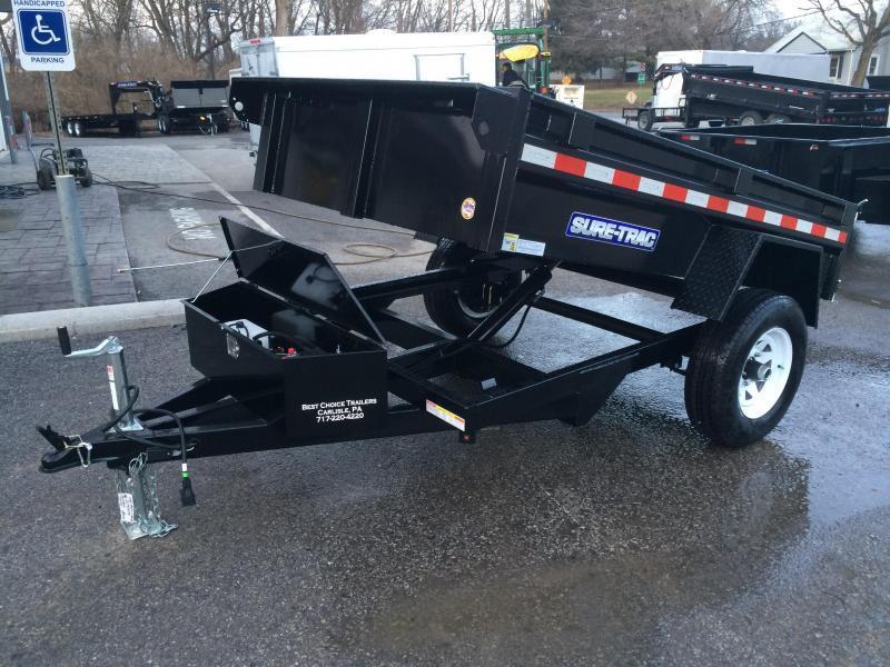 2018 Sure-Trac 5x8' Dump Trailer 5000# GVW