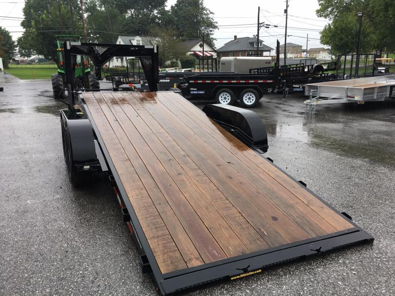 2017 H&H 7x16+4' 14000# Gooseneck Gravity Tilt Equipment Trailer SPARE TIRE & MOUNT