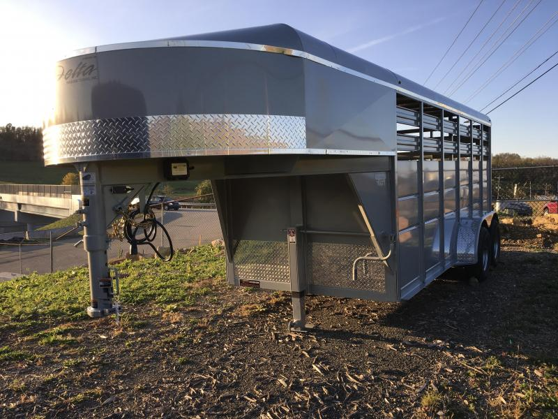 2018 Delta Gooseneck 500 ES 16' Livestock Trailer 7000# GVW