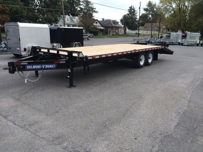2017 Sure-Trac 102x20+5 15K Beavertail Deckover Trailer FULL WIDTH RAMPS