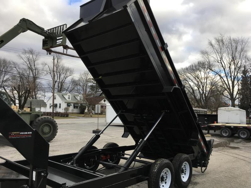 "2017 Sure-Trac 82""x16' Gooseneck Heavy Duty Low Profile Dump Trailer 14000# GVW"