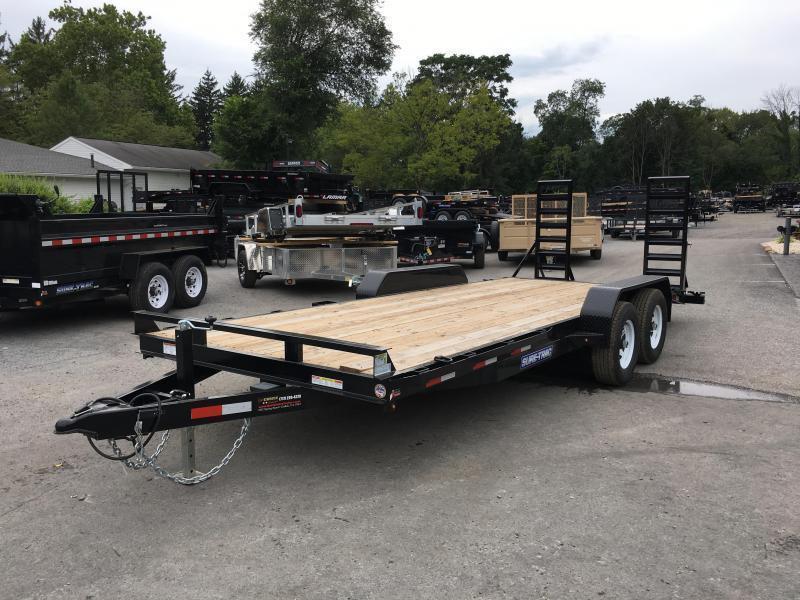 2018 Sure-Trac Implement 7'x16' Equipment Trailer 9900# GVW - ST8116IT-B-100