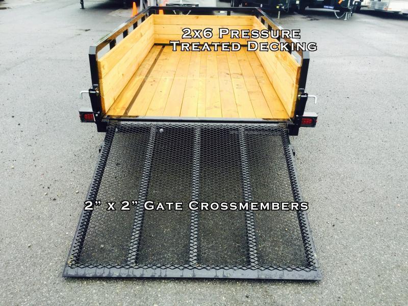 2018 Sure-Trac 5x8 3-Board High Side Tube Top Utility Trailer 2990# GVW