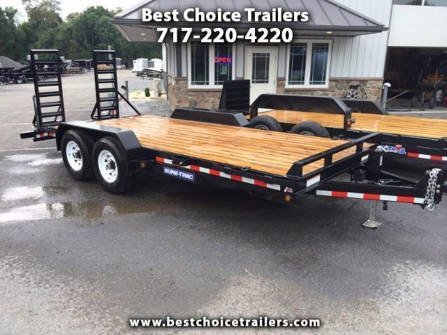 2017 Sure-Trac Implement 7'x18' 14000# Equipment Trailer