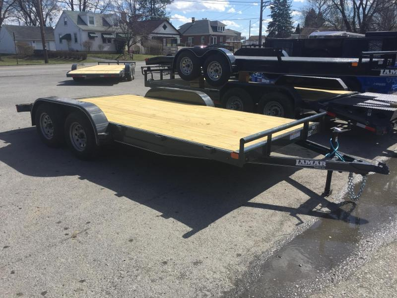 2018 Lamar 7x18' CE Wood Deck Car Trailer 7000# GVW - GRAY