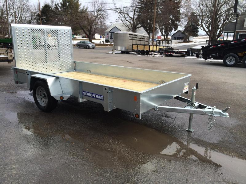 2017 Sure-Trac 6x10' Galvanized High Side Landscape Utility Trailer 2990# GVW