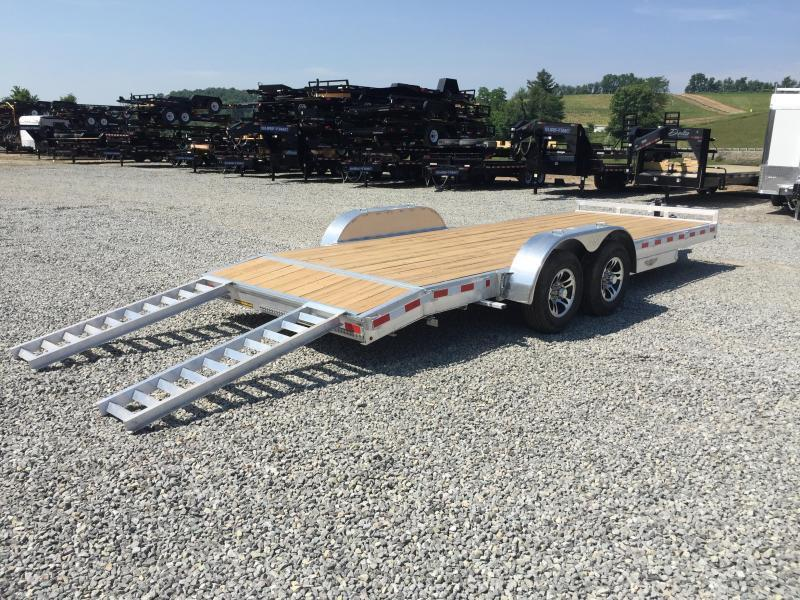 "2017 H&H 7x20' 9990# Low Profile Aluminum Car Hauler HEAVY DUTY TORSION AXLES DROP AXLES 8"" FRAME"