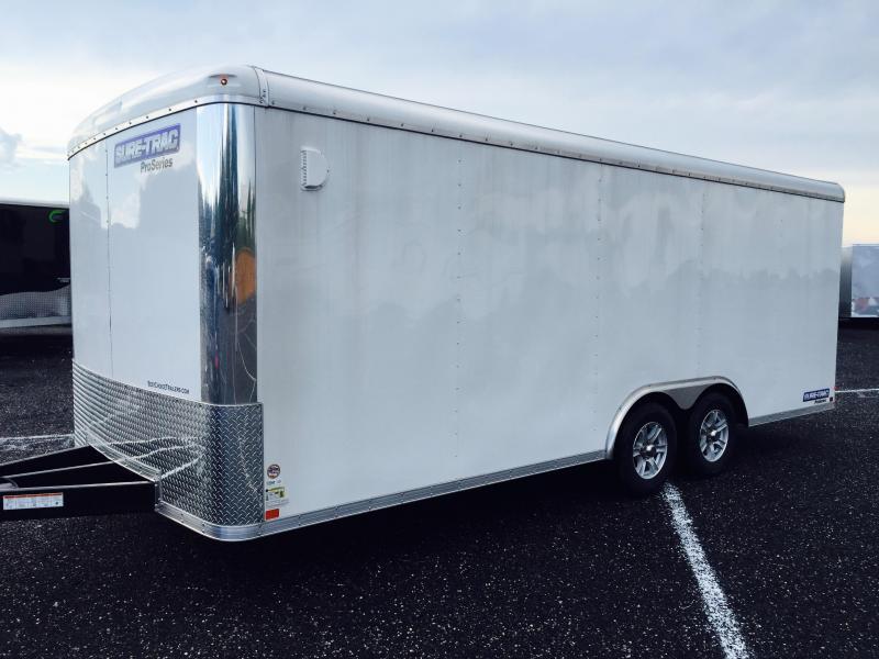 2017 Sure Trac Strch Commercial Round Top Enclosed Car Hauler 8 5
