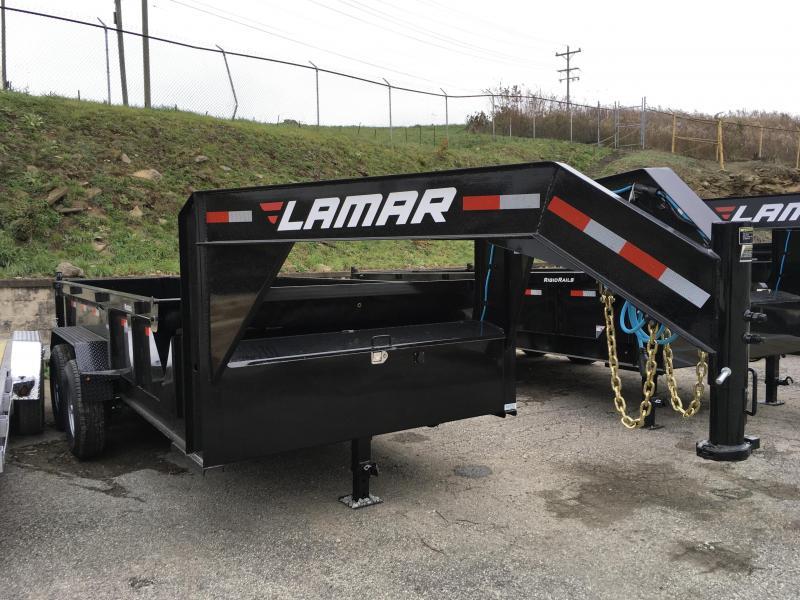 2018 Lamar 7x14' Gooseneck Dump Trailer 14000# GVW