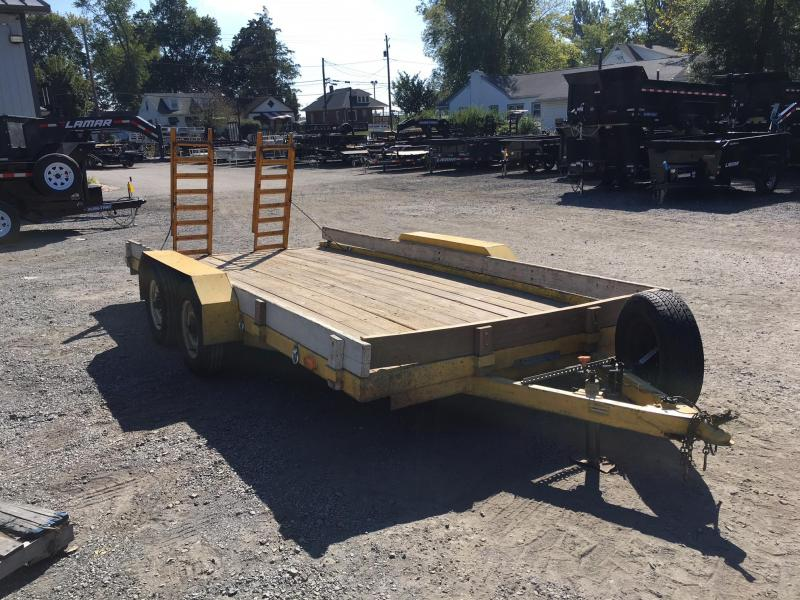 USED 1988 SP Construction 14' Equipment Trailer 3000# GVW