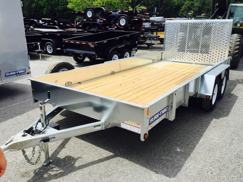 2016 Sure-Trac 7X16' Galvanized High Side Landscape Utility Trailer 7000#