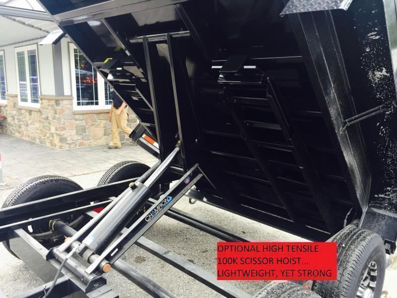 2017 Sure-Trac 7x14' 14000# Low Profile HD GOOSENECK Dump Trailer