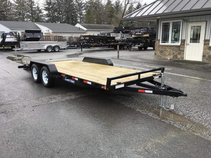 2018 Sure Trac Chw 7x18 7000 Wood Deck Car Hauler Trailer