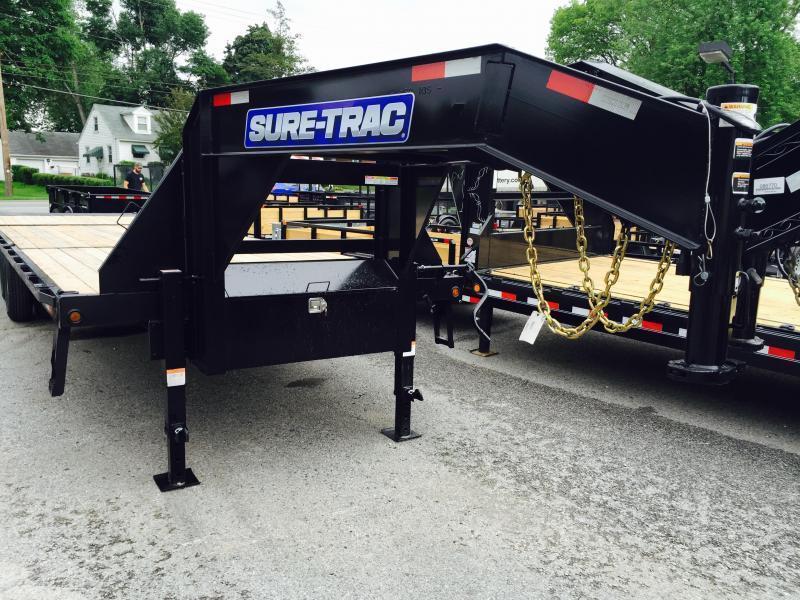 "2017 Sure-Trac 102""x22'+10' 22500# Hydraulic Dovetail Deckover Trailer"