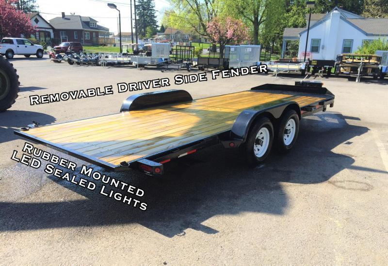 2017 Sure-Trac 7x20' 9900# POWER Tilt Wood Deck Car Hauler