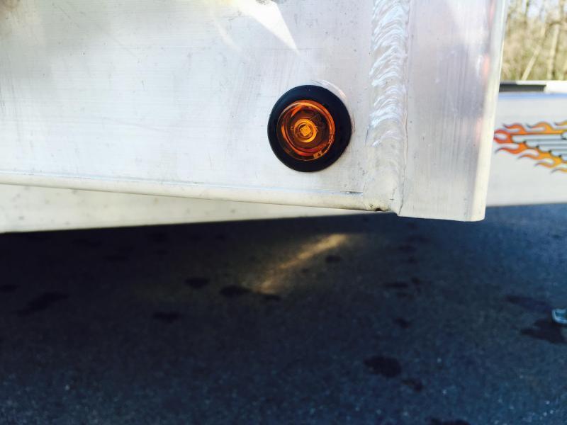 2017 H&H 7x18' 7000# Aluminum Car Hauler ALUMINUM WHEELS HEAVY FRAME