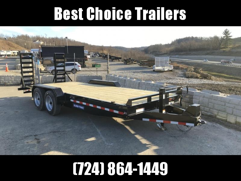 2018 Sure-Trac Implement 7'x20' 16000# Equipment Trailer 8K AXLES!