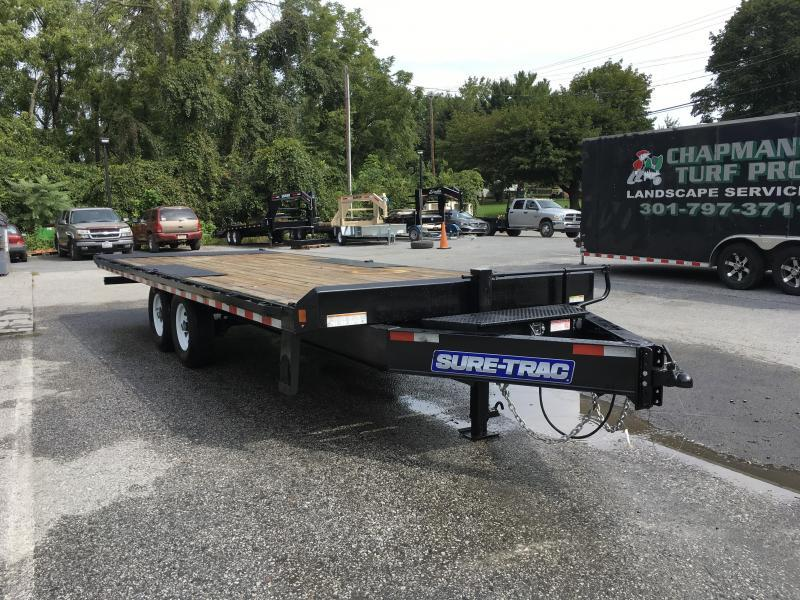 2018 Sure-Trac 102X22' 15000# Low Profile Power Tilt Deckover DUAL JACKS MUD FLAPS