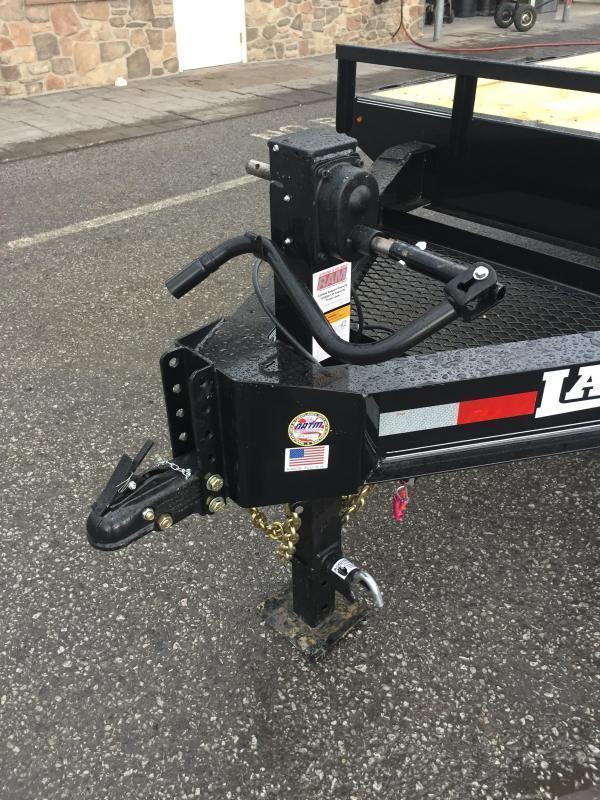 2017 Lamar 102x22' 14000# Deckover Equipment Trailer 2 FLIPOVER RAMPS 2 SPEED JACK