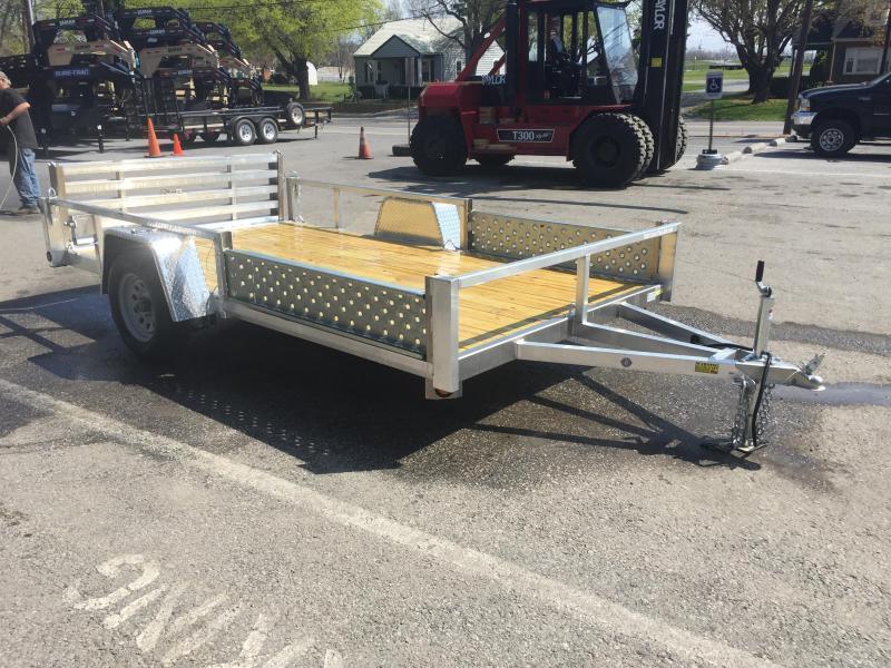 2018 QSA 7x12 Deluxe Aluminum Utility Trailer SIDE ATV RAMPS