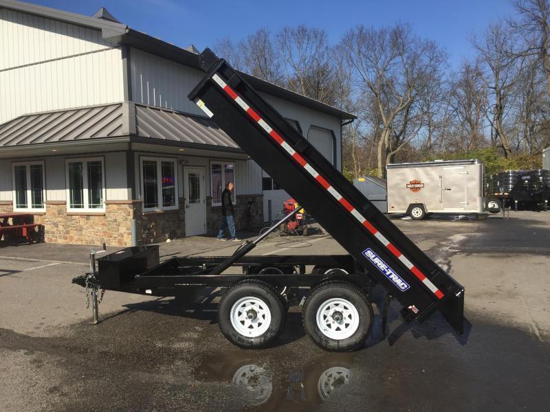 2018 Sure-Trac 6x10' SD Deckover Dump Trailer 7000# GVW