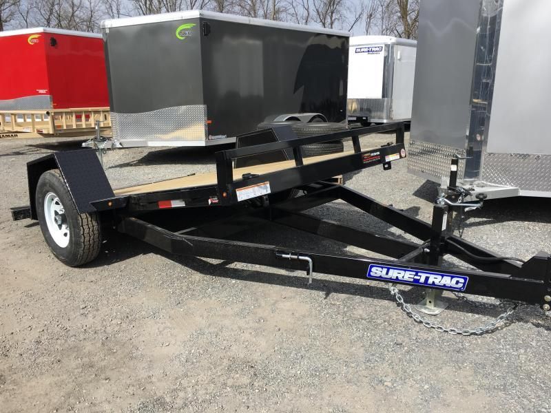 "2017 Sure-Trac 78""x12' 7000# GVW Tilt Equipment Trailer Scissor Hauler"