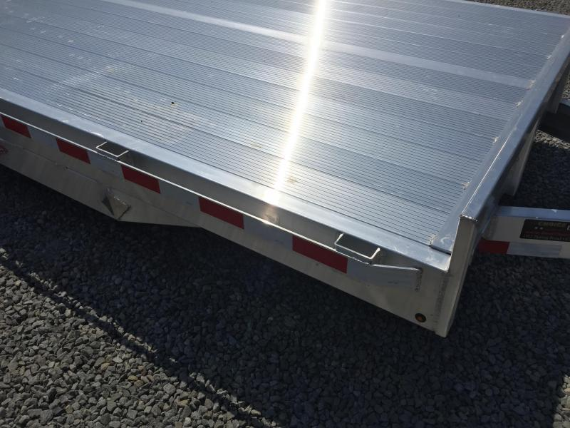 "2017 H&H 7x20' 9990# Low Profile Aluminum Car Hauler HEAVY DUTY TORSION AXLES DROP AXLES 8"" FRAME EXTRUDED ALUMINUM FLOOR"