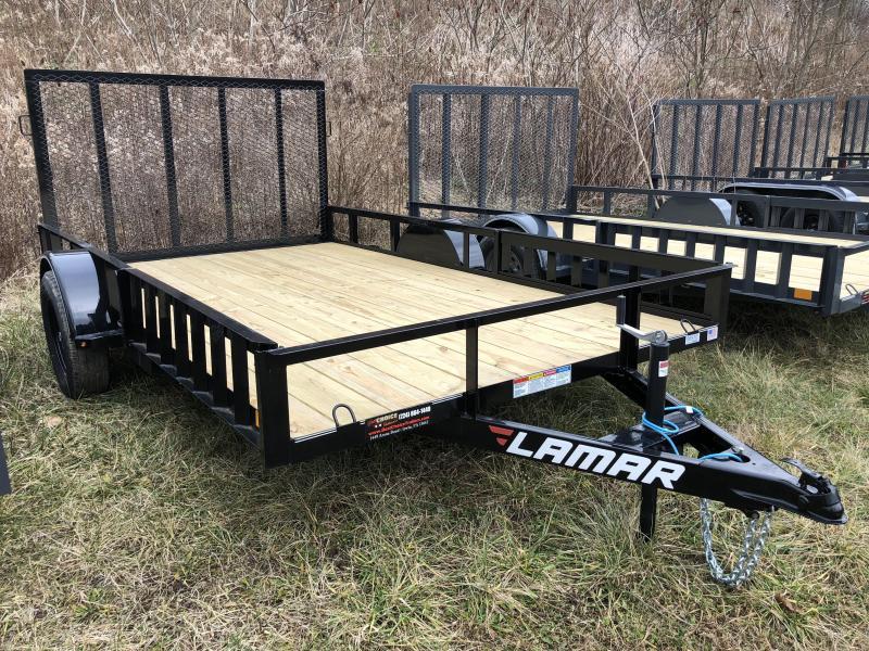 2018 Lamar 7x12' 2990# Landscape Utility Trailer ATV RAMPS